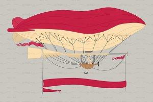 ♥ vector airship zeppelin dirigible