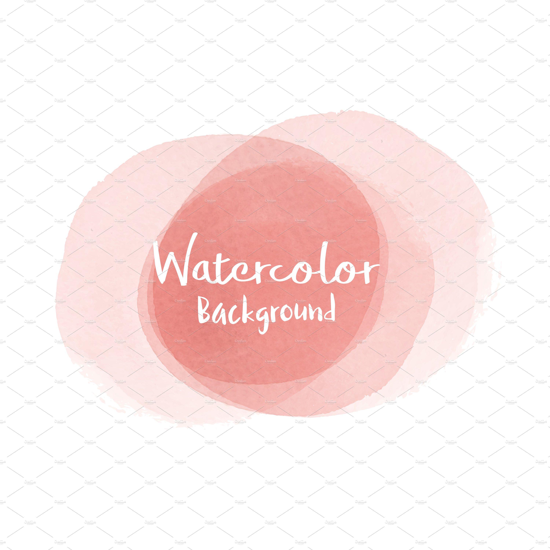 pastel peach watercolor background pre designed illustrator graphics creative market pastel peach watercolor background