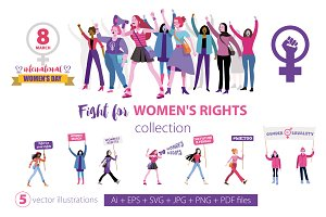 Fight for women's rights collection