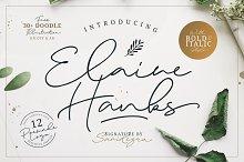 Elaine Hanks (+Feminine Logo Pack) by  in Script Fonts