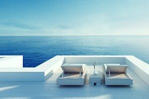 Beach lounge - ocean villa seaside