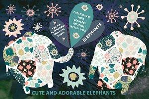 Cute and good elephants