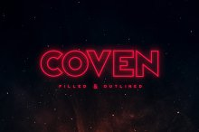 Coven Typeface by  in Display Fonts