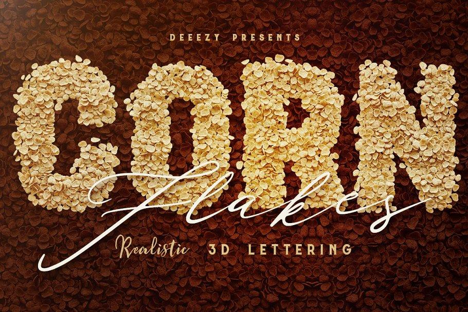 Corn Flakes – 3D Lettering