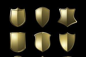 Golden Baroque shield elements