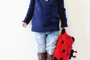 little girl ladybug