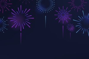 Firework explosions background