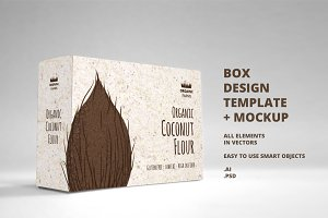 Box Design Template + Box Mockup