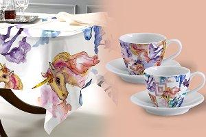 Unicorn Watercolor png