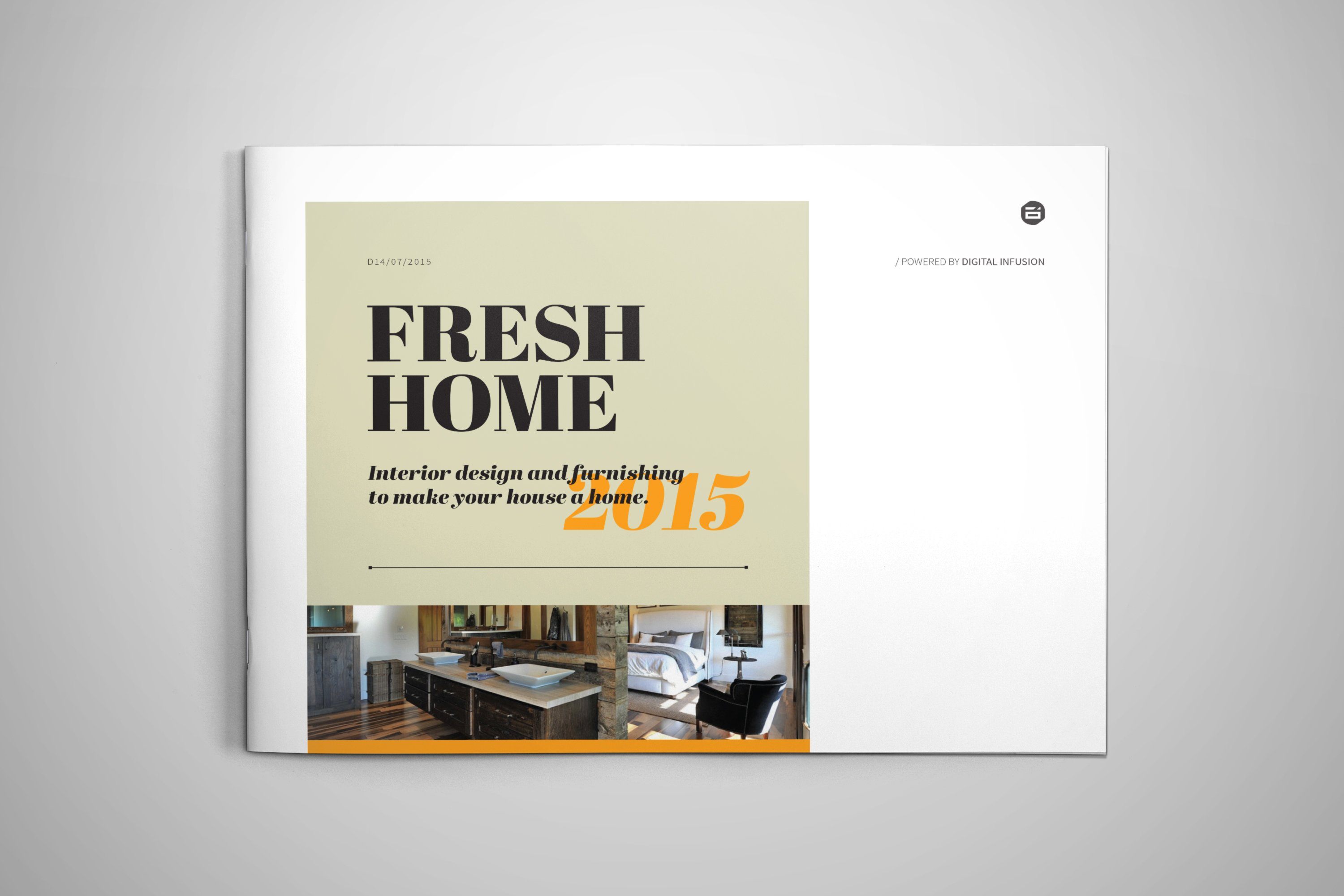 Interior Design Brochure Catalog Templates Creative Market