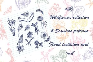 Wildflowers Hand sketched