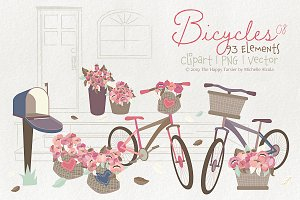 Bicycles 08 - Clipart, PNG & Vector