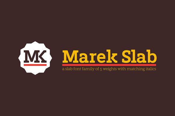 Slab Serif Fonts: Rosario Nocera - Marek Slab / A slab serif font f.