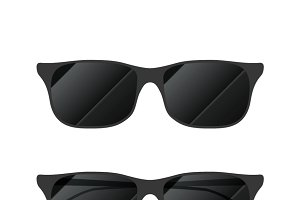 Modern glossy sunglasses