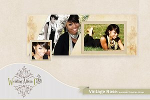 Vintage Rose Facebook Timeline Cover