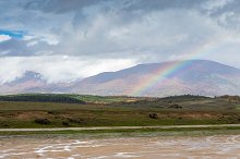 Amazing rainbow in the countryside by  in Nature