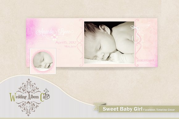 Sweet Baby Girl 1 Facebook Timeline Presentation Templates