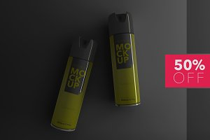 Spray Packaging PSD Mockup - Premium