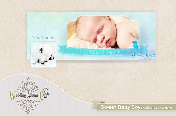 Sweet Baby Boy Facebook Timeline Presentation Templates Creative