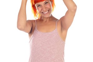 Winner woman with pink dress celebra