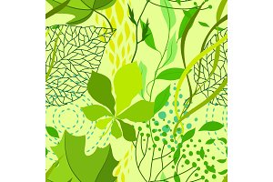 Seamless nature pattern with