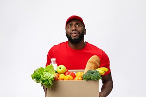 Portrait of delivery african