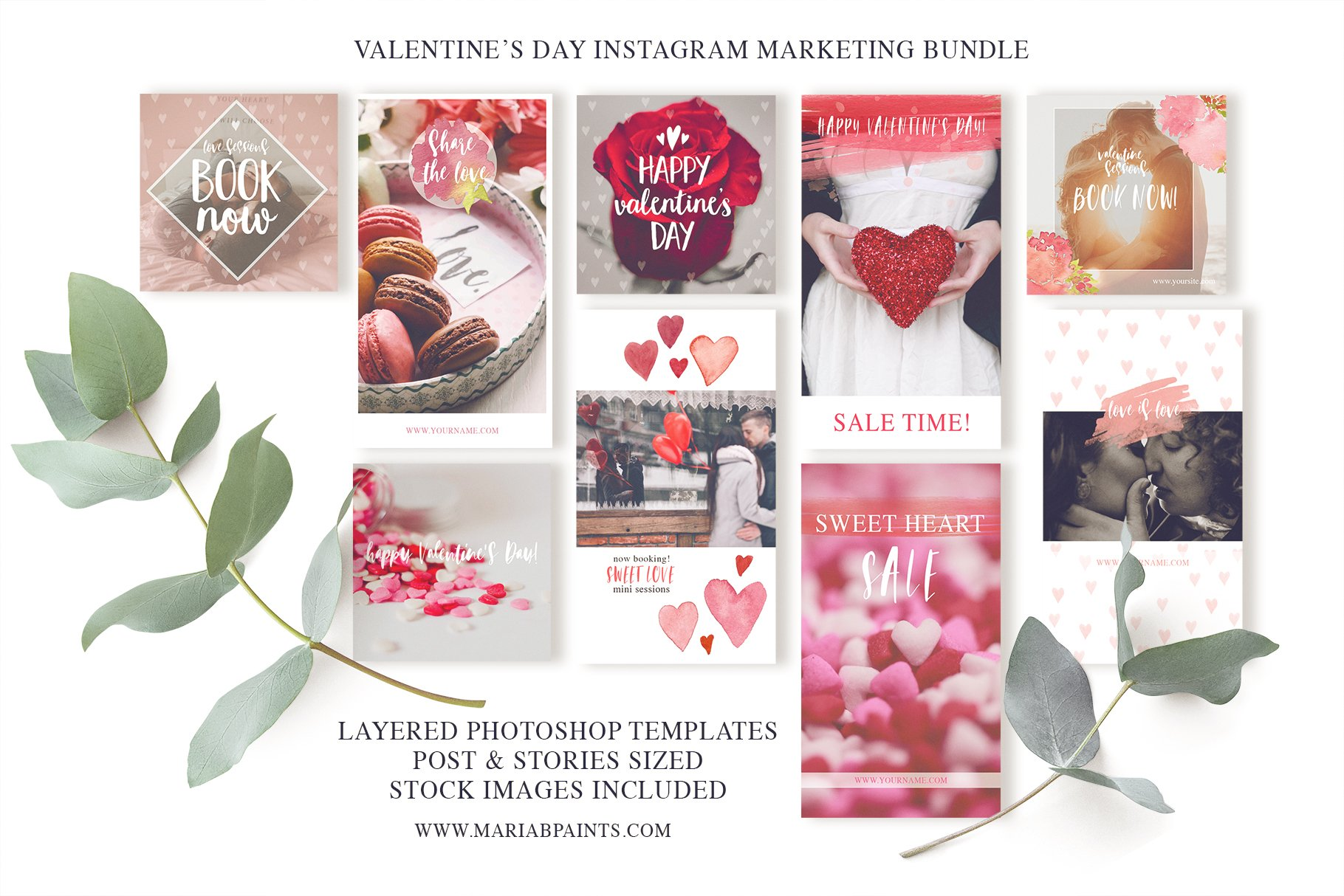 Valentine Instagram Marketing Set
