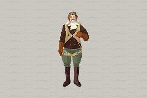 ♥ vector pilot cartoon character