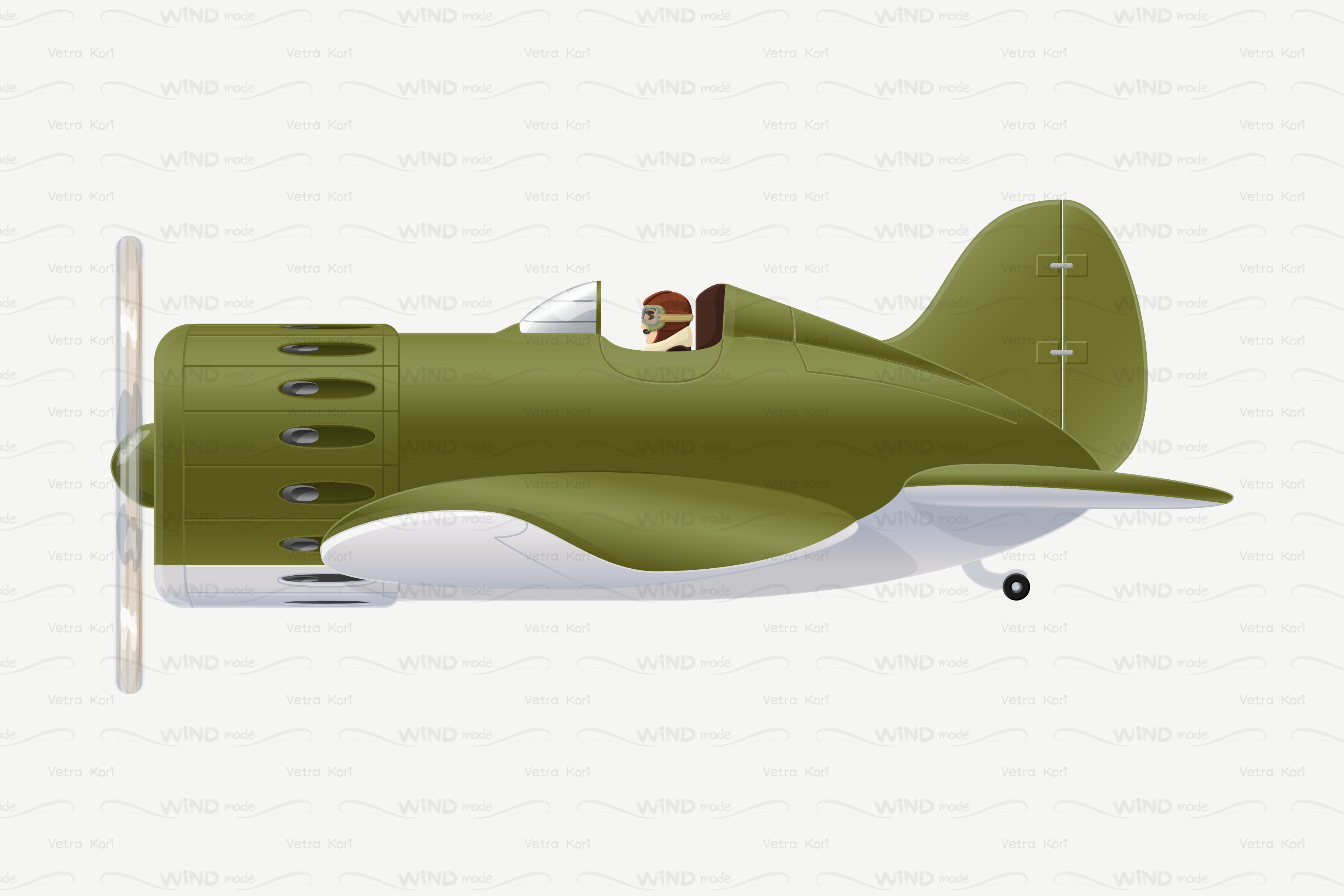 Vector Plane Cartoon Illustration Pre Designed Illustrator
