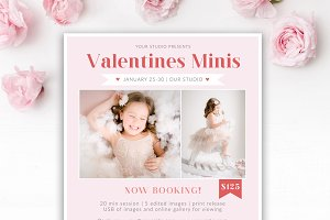 Valentines Mini Session Template