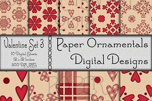 Valentine Set 3, Digital Paper