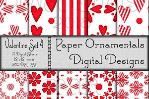 Valentine Set 4, Digital Paper
