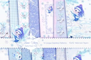 Winter Patterns/ Digital Paper