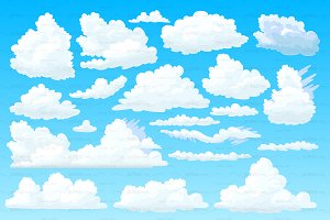 ♥ vector shaped fluffy cloud