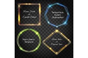 Glow light frames