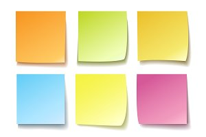 Colorful memo isolated on white