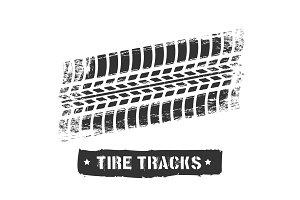 Tire track print
