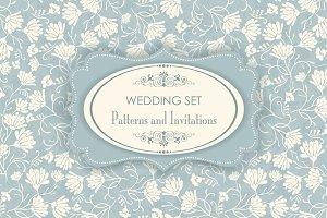 Wedding Set. Pattern and Invitation.