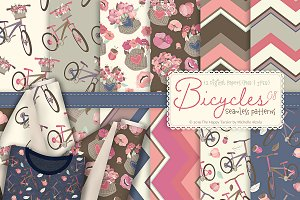 Bicycles 08 - Seamless Patterns