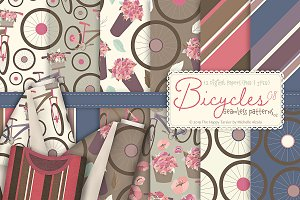 Bicycles 08 - Seamless Patterns 02