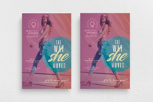 The Way She Moves Flyer Template