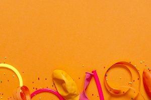 Bright festive yellow background