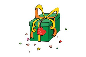 Valentine's Day Gift vector