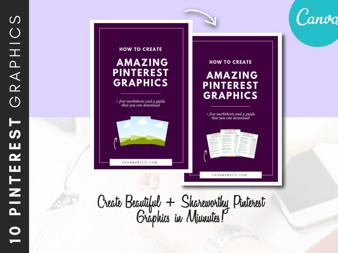 Pinterest Canva Template Pack