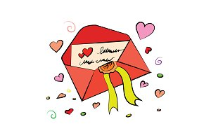 Love Letter. Valentine's Day vector