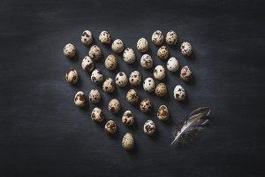 Eggs still life background.