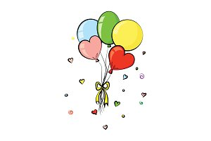 Balloons vector. Valentine's Day.