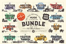 HUGE VECTOR ILLUSTRATIONS BUNDLE