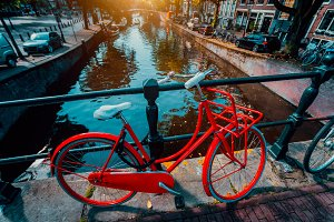 Symbols of Amsterdam: Red Bicycle