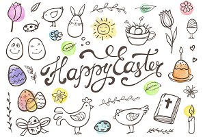 Easter Doodles and Patterns